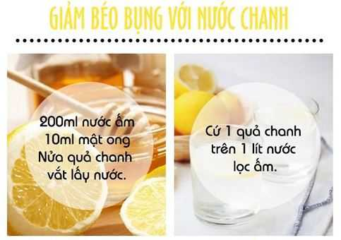 cach giam beo bung voi chanh